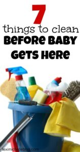 list of things to clean before baby arrives
