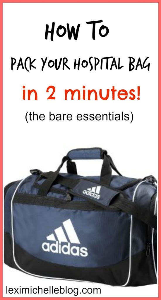 Pack your hospital bag in 2 minutes (from a 2nd time mom)