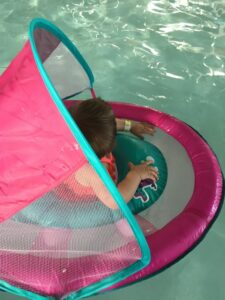 how to celebrate National Learn to Swim Day- SwimWays Baby Float review